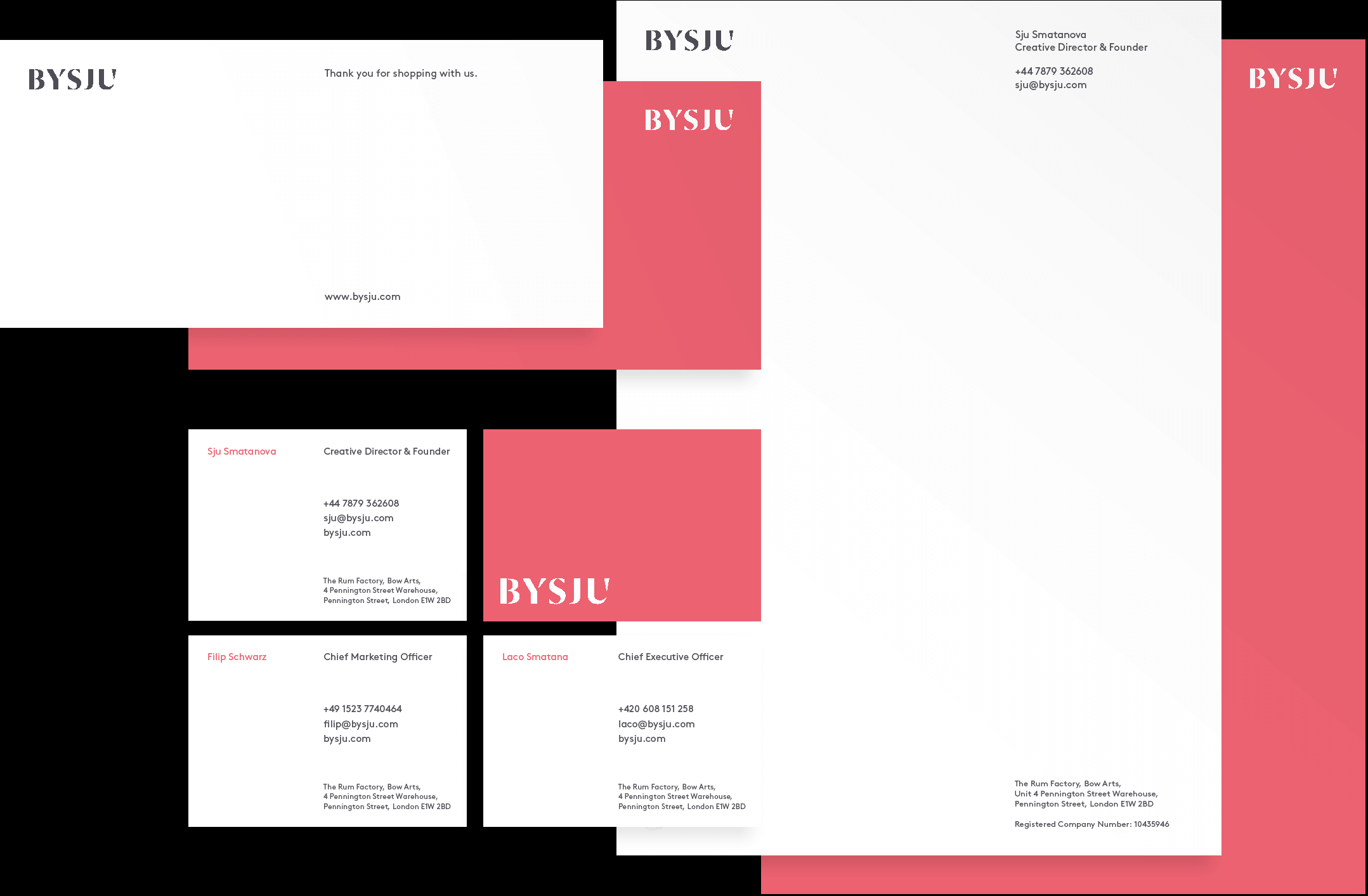 Brand Identity, for London based BYSJU